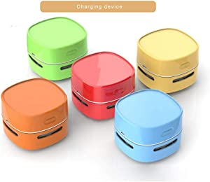 Hengyuanyi Mini Portable Cordless Built in 1400mah Battery USB Rechargeable Tabletop Crumb Desktop Dust Sweeper Handheld Vacuum Cleaner Blue