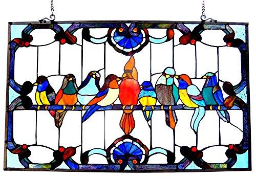 ny-glass featuring Gathering Birds Window Panel ()