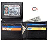RFID Blocking Wallet for Men Leather RFID Wallet Card Holder Purse Bifold Wallet