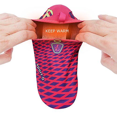 L-RUN Herren Wasser Schuhe Barfuß Haut Aqua Schuhe für Dive Surf Swim Beach Yoga Pelzrosenrot