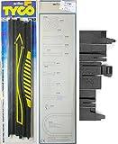 2 TYCO Mattel HO Slot Car 15'' Straight Squeze Tracks 6782