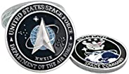 United States Space Force Logo Silver Challenge Coin US Command - USA Military