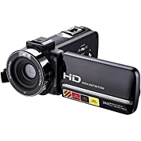Camcorders,ESHOWEE FHD 3.0 Inch IR 24MP 16X Digital Zoom with External Microphone and Touch Screen Video Camera Camcorder