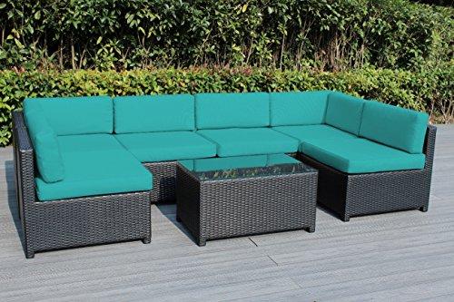 Ohana Mezzo 7-Piece Outdoor Wicker Patio Furniture