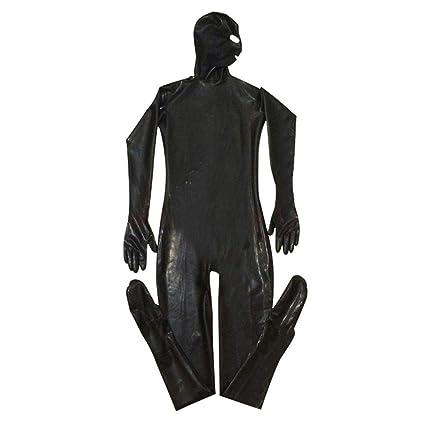 Busirde PU de los Hombres máscara de Cuero de la Capilla Sexy Body Night Club Prisionero