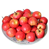 mini apples - Voberry® 50 Pcs Home Furnishing Artificial Apple Plastic Ecorative Fruit Photographic Props (Red)