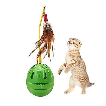 CTlite - Pelota de Juguete para Gatos, diseño de Vaso, dispensador de Alimentos para