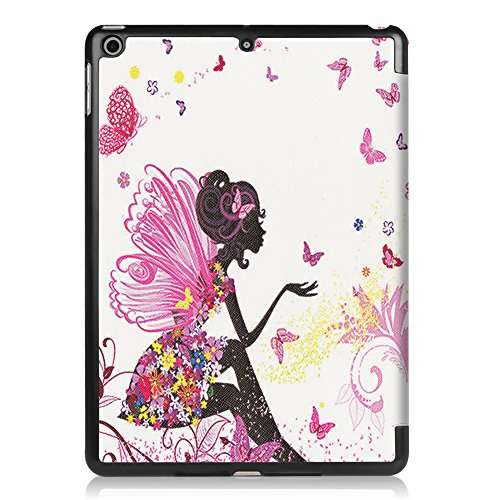 2017 Generation Case Smart Hard Maeco Back Lightweight with for 2018 Ultra Sleep Inch Function Cover Painting Apple Wake Paint New 7 iPad 5th iPad Case Elves girl Church Trifold 6th ipad9 9 7 Stand new Slim window nC1OwYC7
