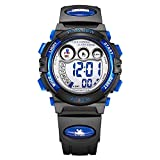 Dayllon Kids Waterproof Sports Wrist Watch Boys Girls LED Digital Quartz Wacthes for 5-12 Years Old Children(Black&Blue) #Pdyl-3
