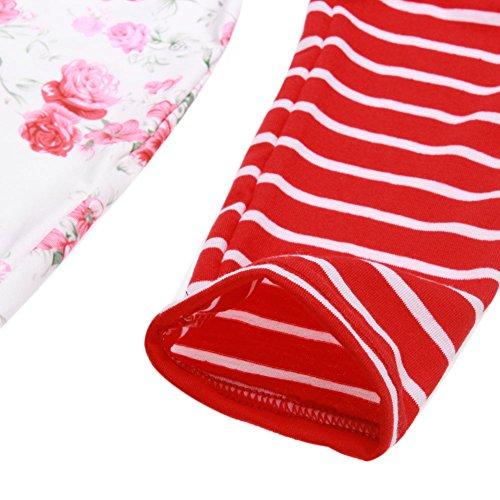 La Cabina Femme Sexy Mini Robe T-Shirt + Manche Longue Confortable pour été Printemps