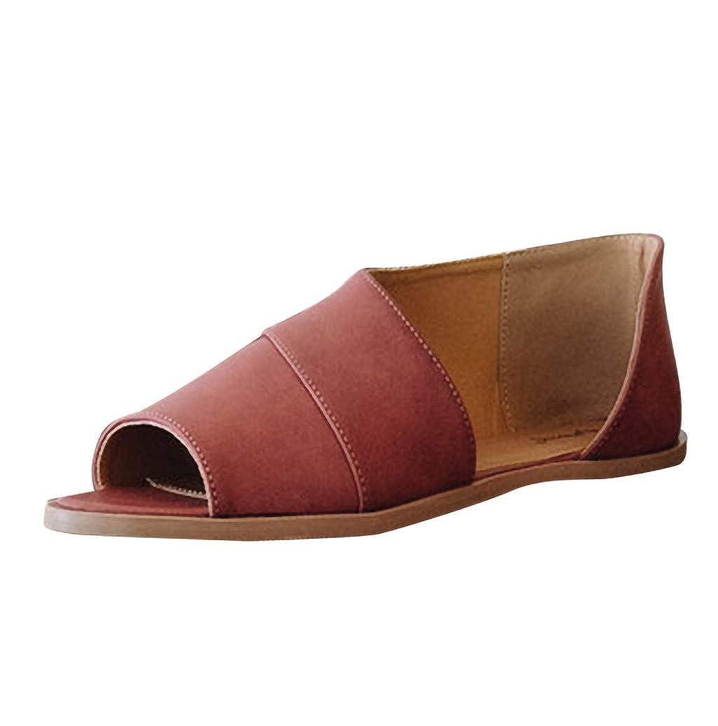 9108c9232093d Boomboom Women Shoes Retro Womens Casual Sandals Summer Cute Peep ...