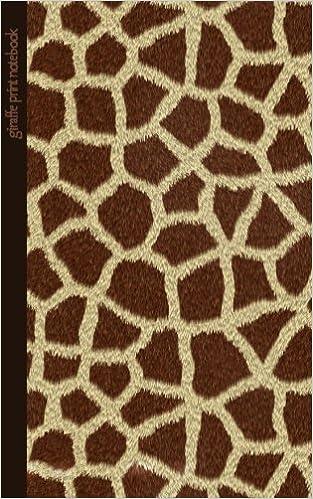 Giraffe Print Notebook Gifts Presents Giraffe Pattern Skin Classy Giraffe Pattern