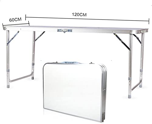 Aluminum Folding Table, Multipurpose Picnic Camping Table, Portable and Adjustable Rectangle Table for Party, Beach, Backyard, BBQ, Indoor and Outdoor 47.24 x 23.62 x 27.56
