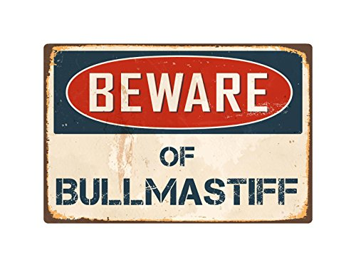 "Beware Of Bullmastiff 8"" x 12"" Vintage Aluminum Retro Metal Sign VS085"