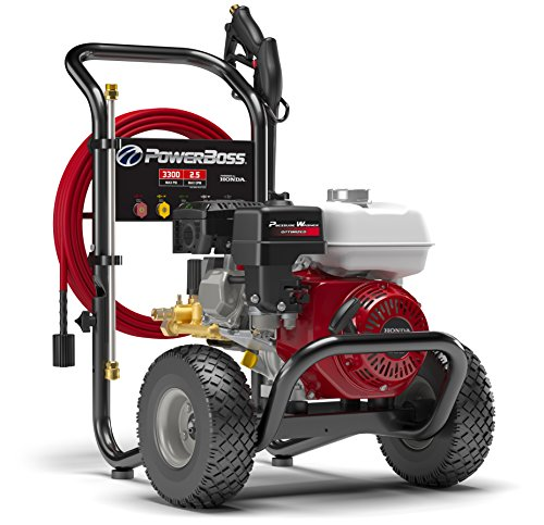 Best Price! PowerBoss Gas Pressure Washer 3300 PSI 2.5 GPM Powered by HONDA GX200 with 30' EASYFle...