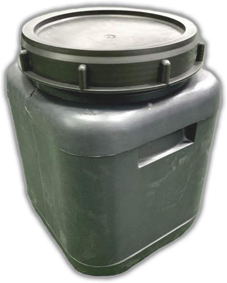 Jardin202 - Bidón de plástico con Boca Ancha Gris de 20 litros