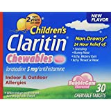 Claritin Children's 24 Hour Allergy Chewable Tablets Bubble Gum Flavored - 30 ct