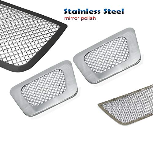 (2pcs Tow Hook Wire Mesh Grille Grill Fit 2007-2014 Chevy Avalanche/Tahoe/Suburban)