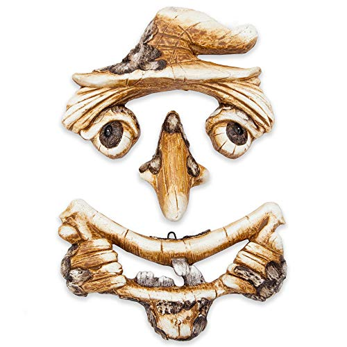 Cheap Bits and Pieces – Scarecrow Tree Face Yard Art – Outdoor Tree Hugger Sculpture Garden Decoration