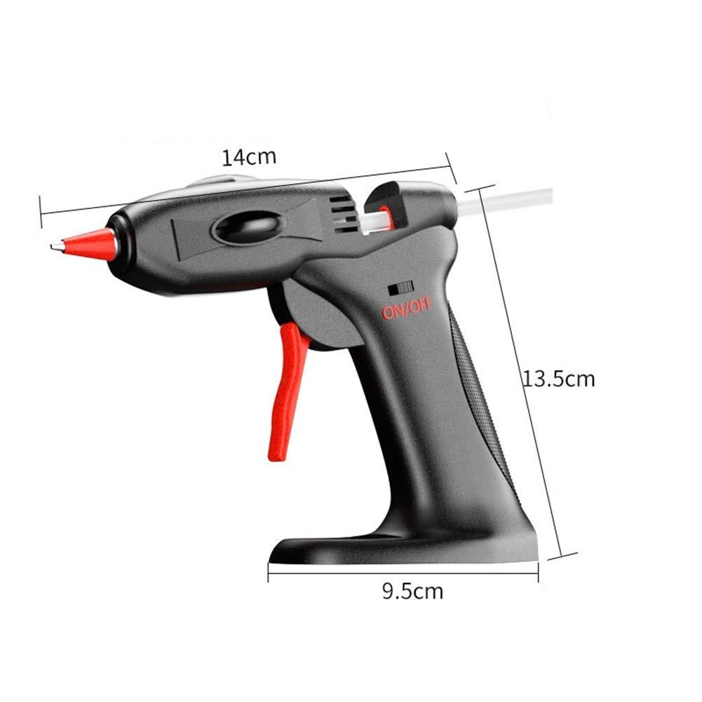 DGYAXIN Hot Glue Gun, 15-Watt Mini Cordless Hot Glue Gun Lithium Ion Battery- 30pcs Glue Sticks, Rechargeable Portable High Temperature Melting Glue Gun, for Sealing and Quick Daily Repairs,Black