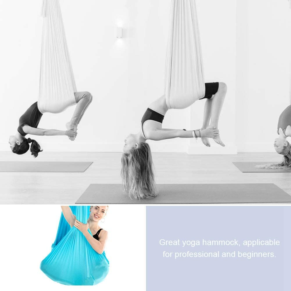 SOONHUA 2.8M Yoga Hammock with Elastic Aerial Gravity Elastic for Durable Yoga Hammock Swing Fitness Strength Training Inversion Equipment Training Accessory : Sports & Outdoors