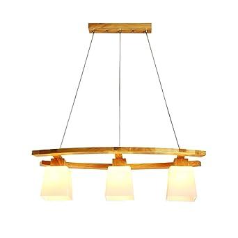 Kronleuchter Aus Holz Mit Glasschirm Hangeleuchte Moderne Esszimmer