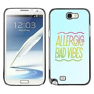 Be Good Phone Accessory // Dura Cáscara cubierta Protectora Caso Carcasa Funda de Protección para Samsung Note 2 N7100 // Bad Good Vibes Music Energy Positivity Quote