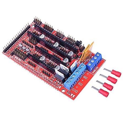 LCD 12864 for Arduino Reprap K17 RAMPS 1.4 kuman 3D Printer Controller Kit for Arduino Mega 2560 Uno R3 Starter Kits 5pcs A4988 Stepper Motor Driver