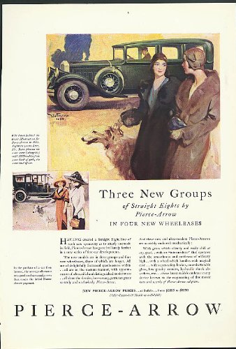 Three New Groups of Straight Eights by Pierce-Arrow ad 1930 Arts & Decoration