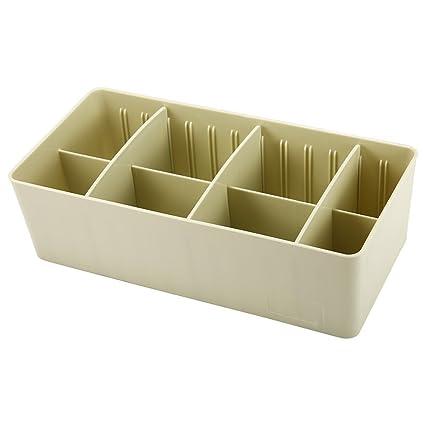 Ocamo Caja ordenadora de Calcetines y Calzoncillos, Ordenador de Ropa, Caja de Color Verde