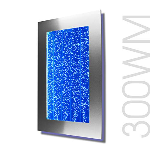 New Prime 300 Bubble Wall Panel Aquarium RGB LED Lighting Indoor Fountain Water Fall Feature