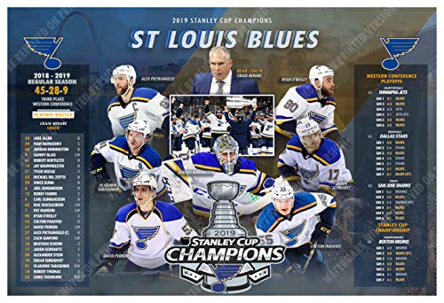PosterWarehouse2017 ST. Louis Blues Win The 2019 Stanley Cup 19