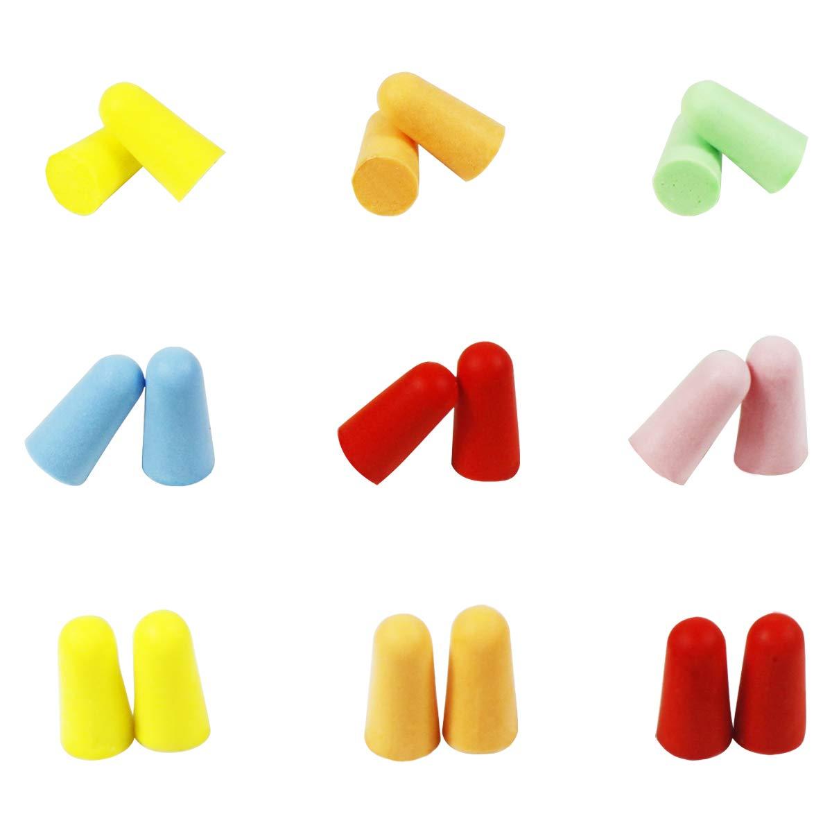 Dokpav Bouchons d'oreilles, 60 paires de bouchons d'oreilles en mousse souple de couleurs diffé rentes, bouchons d'oreilles anti-bruit, bouchons d'oreilles en é ponge 60 paires de bouchons d' oreilles en mousse souple de couleurs différen