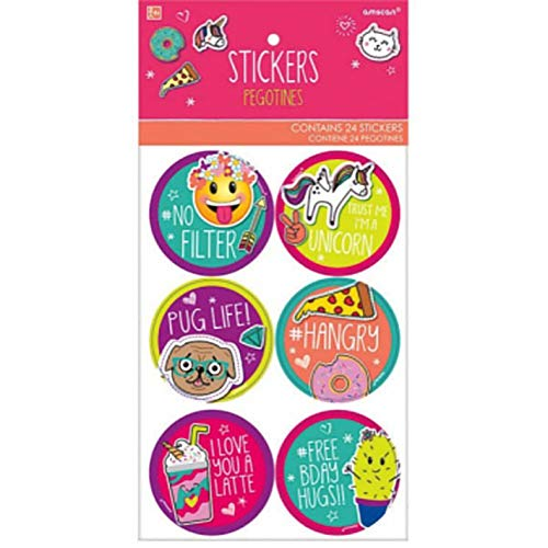 Birthday Amscan 151976 288 Ct Stickers Selfie Celebration Collection
