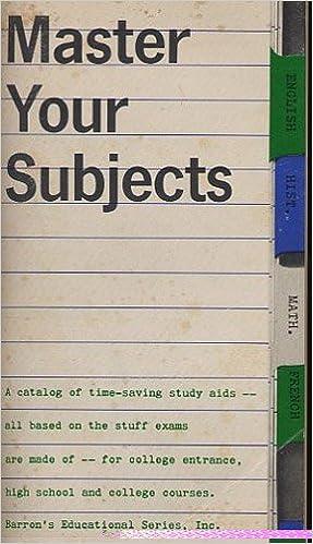 Ebook kostenloser Download für Handys Master Your Subjects : A Catalog of Time-Saving Study Aids B002TT2LWK DJVU