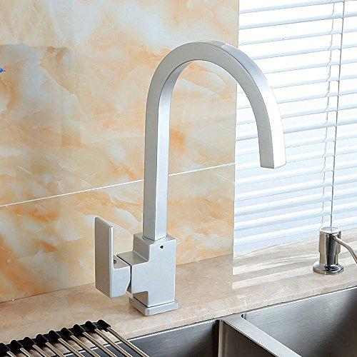 MMYNL Aluminium warmes und kaltes Wasser Waschbecken Wasserhahn Bad Armatur Waschtischmischer