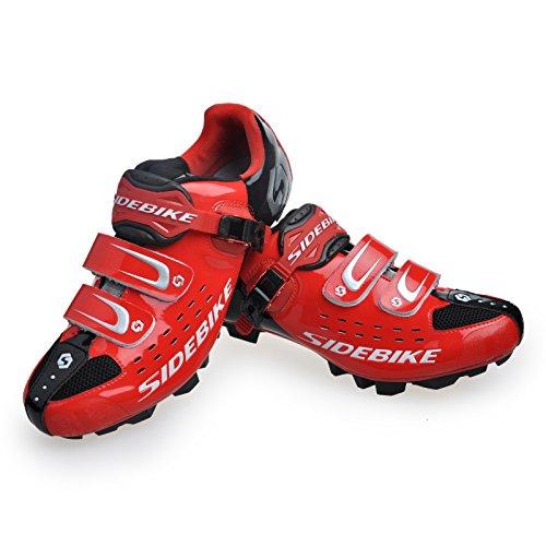 Skyrocket Chaussure de Cyclisme de VTT (Rouge et Noir, EU46)