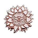 18K Rose Gold Plated Sterling Silver Bee on a Sunflower Lapel Pin