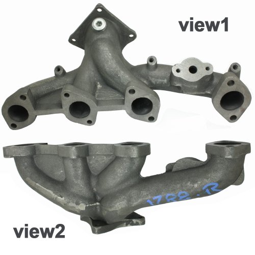 APDTY MD307345 Exhaust Manifold Cast Iron Assembly Fits Right Rear Of Engine On 1996-2000 Dodge Caravan w/3.0L / 1996-2000 Dodge Grand Caravan w/3.0L / 1996-2000 Plymouth Voyager w/3.0L / 1996-2000 Plymouth Grand Voyager w/3.0L