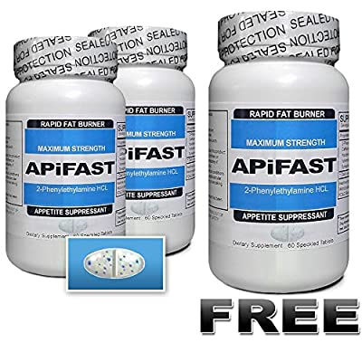 (2+1 FREE) APiFAST – Rapid Fat Burning Diet Pills Plus Appetite Suppressant – Increased Fat Metabolism & Energy – Clinically Proven Weight Loss Ingredients Made in USA (180tabs – 3 Bottles)