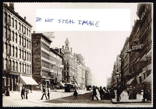 - A View From Down State Street From Lake Street In The 1880's Chicago Postcard