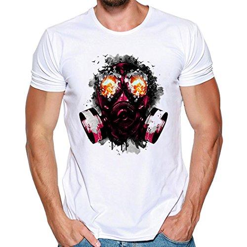 縞模様の手入れ不均一Hanaturu  tシャツ メンズ おしゃれ おもしろ 白 格好いいプリント柄 人気 花と髑髏 メンズプリントtシャツ 着心地いい 夏最適 ファション ホワイト 友達彼氏 プレゼント S-4L 大きいサイズ