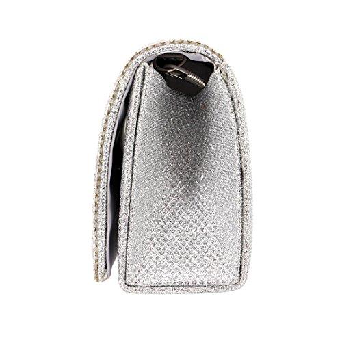 Pochette 90S femme silver pour 90S Pochette w5X4xqKIE