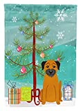 Caroline's Treasures BB4164GF Merry Christmas Tree Border Terrier Garden Size Flag, Small, Multicolor For Sale