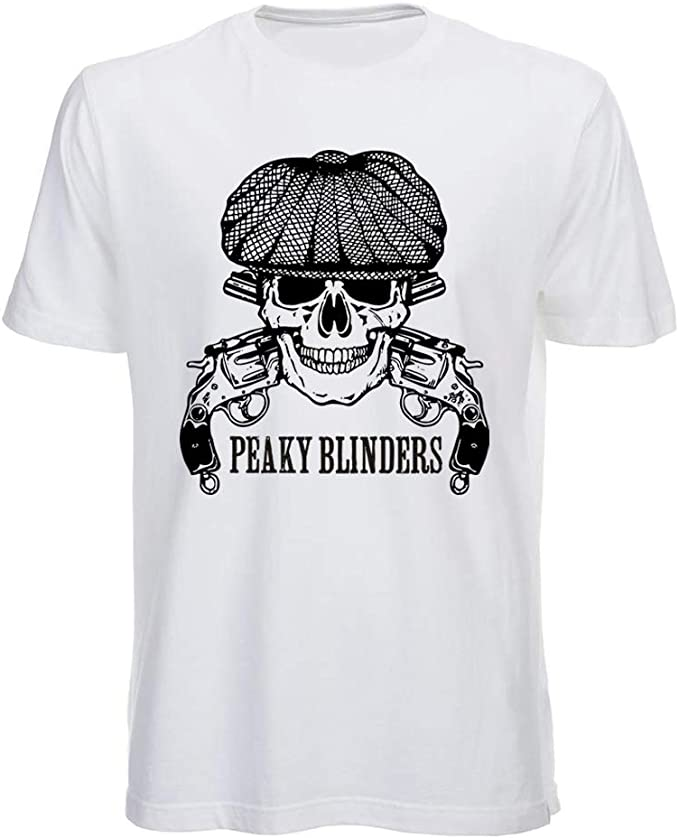 Serie TV Tommy Shelby T Shirt Peaky Blinders Bianca e Nera