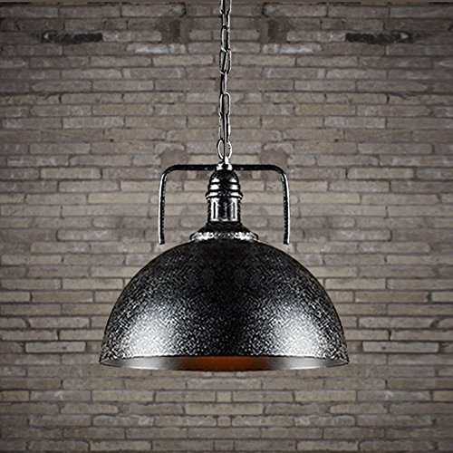 Light Bowl Shade Fixture - JINGUO Lighting Metal Adjustable Pendant Light Hanging Lights Fixture Lamp Ceiling Lighting with 12 Inches Wide Bowl Shade in Industrial Vintage Style for Indoor Restaurant Barn