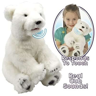 WowWee Alive Polar Bear Cub Plush Robotic Toy in White