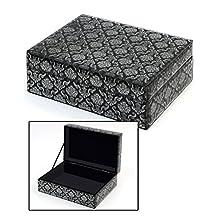Concepts Black And Silver Beveled Mirror Flip Top Organizer / Keepsake / Jewelry Box 6x8.5