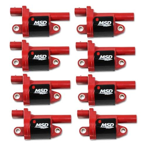 MSD 82688 Coils, Red, Round, 2014 & up GM V8, 8-pk