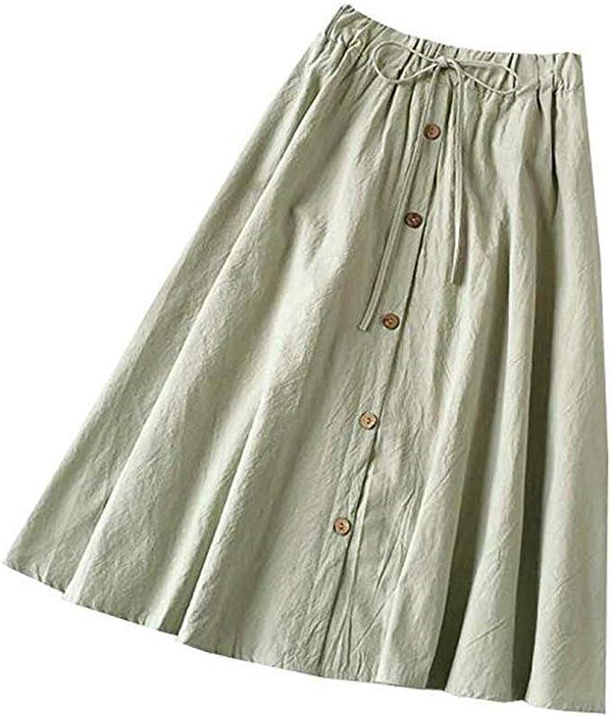 Gusspower Mujer Falda Larga Plisada Vintage Estampado de Rayas ...